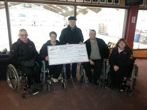 SCI NL support wheelchair curling team